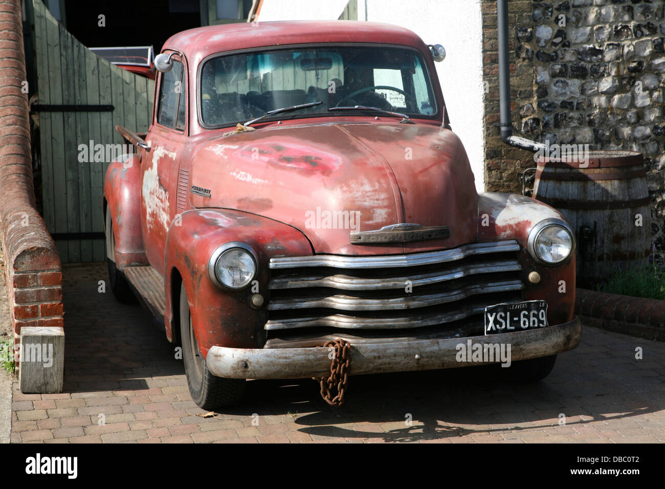 Old 1950s chevrolet car truck classic vehicle Stock Photo: 58656418 ...