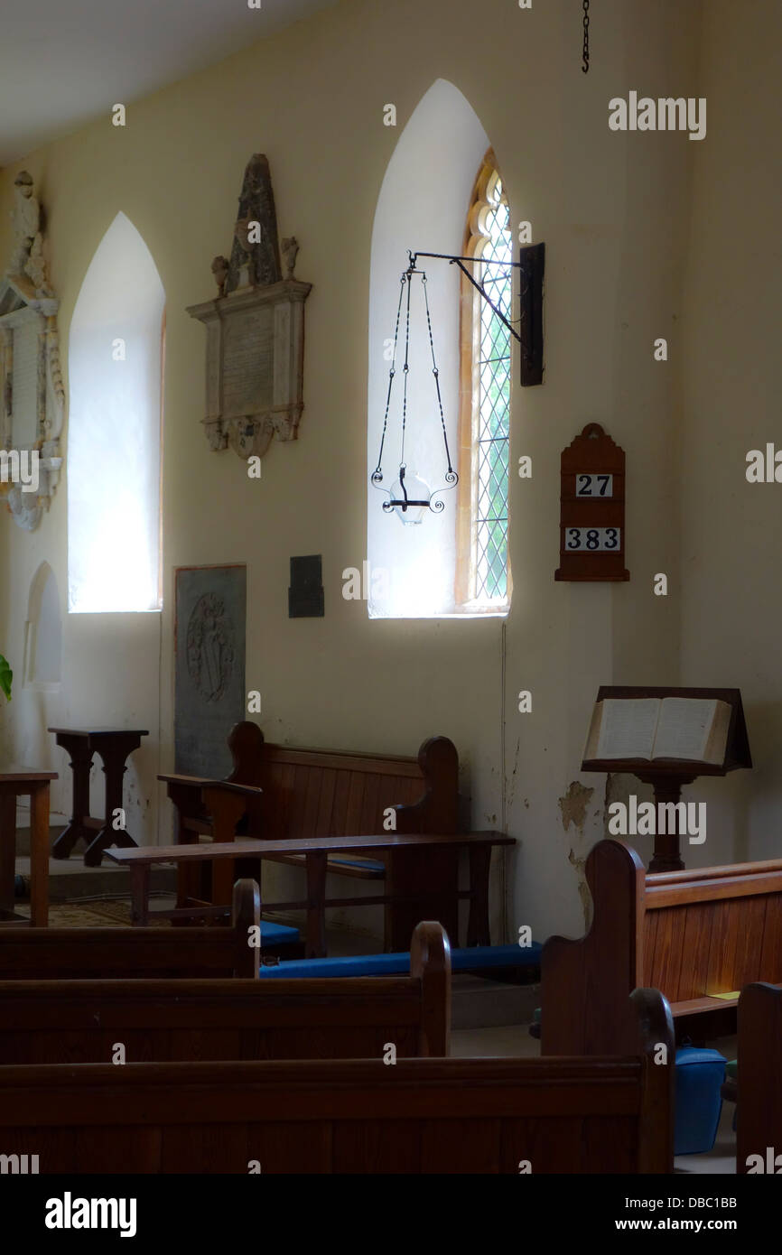 Interior Empty Small Country Church