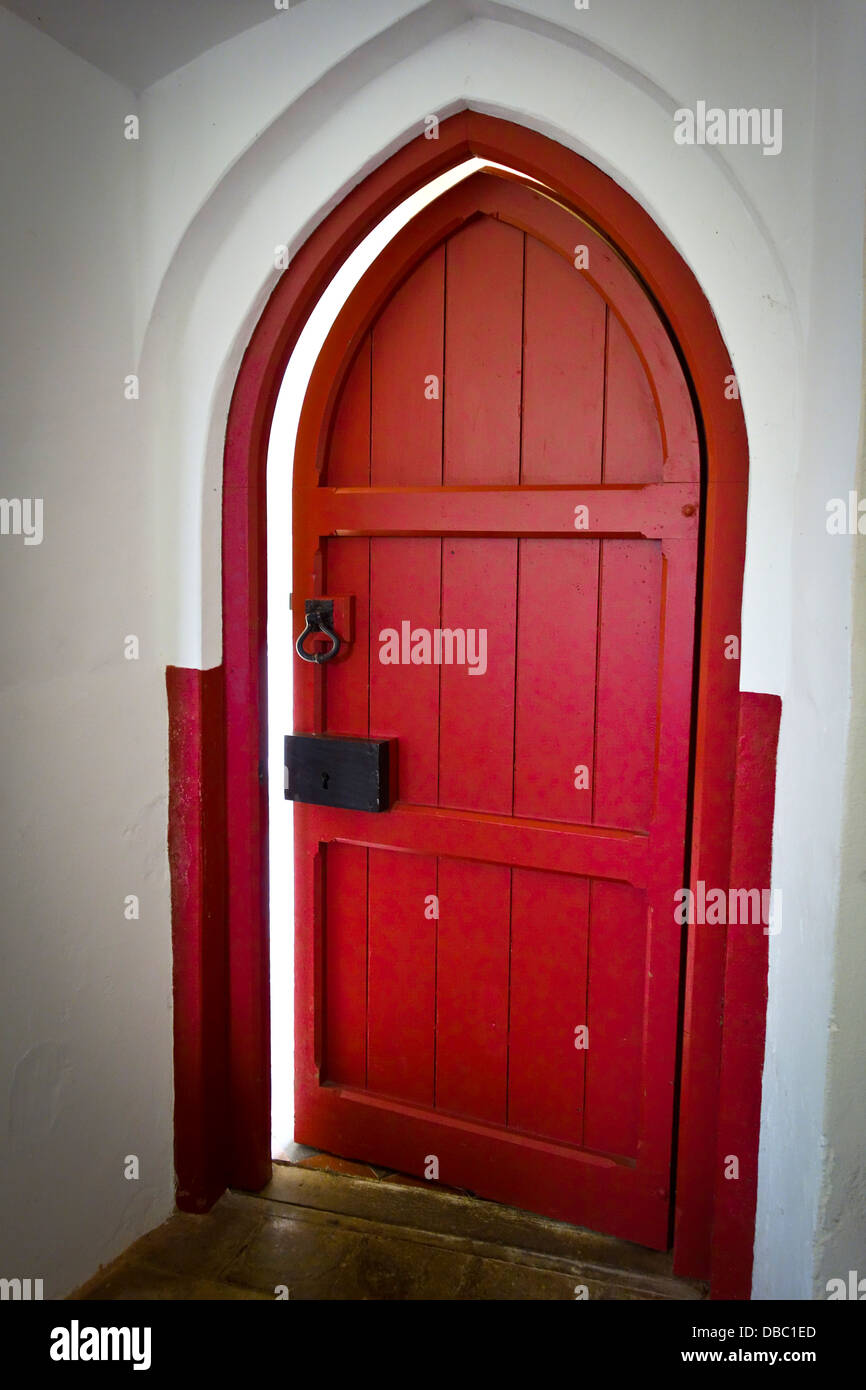 Old red church door - Stock Image & Old Red Church Door Stock Photos u0026 Old Red Church Door Stock Images ...