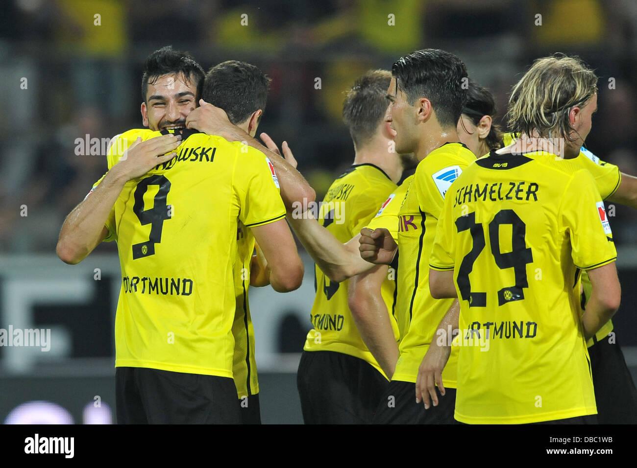 Fußball Supercup: Borussia Dortmund - Bayern München am 27.07.2013 im Signal Iduna Park in Dortmund Dortmunder - Stock Image