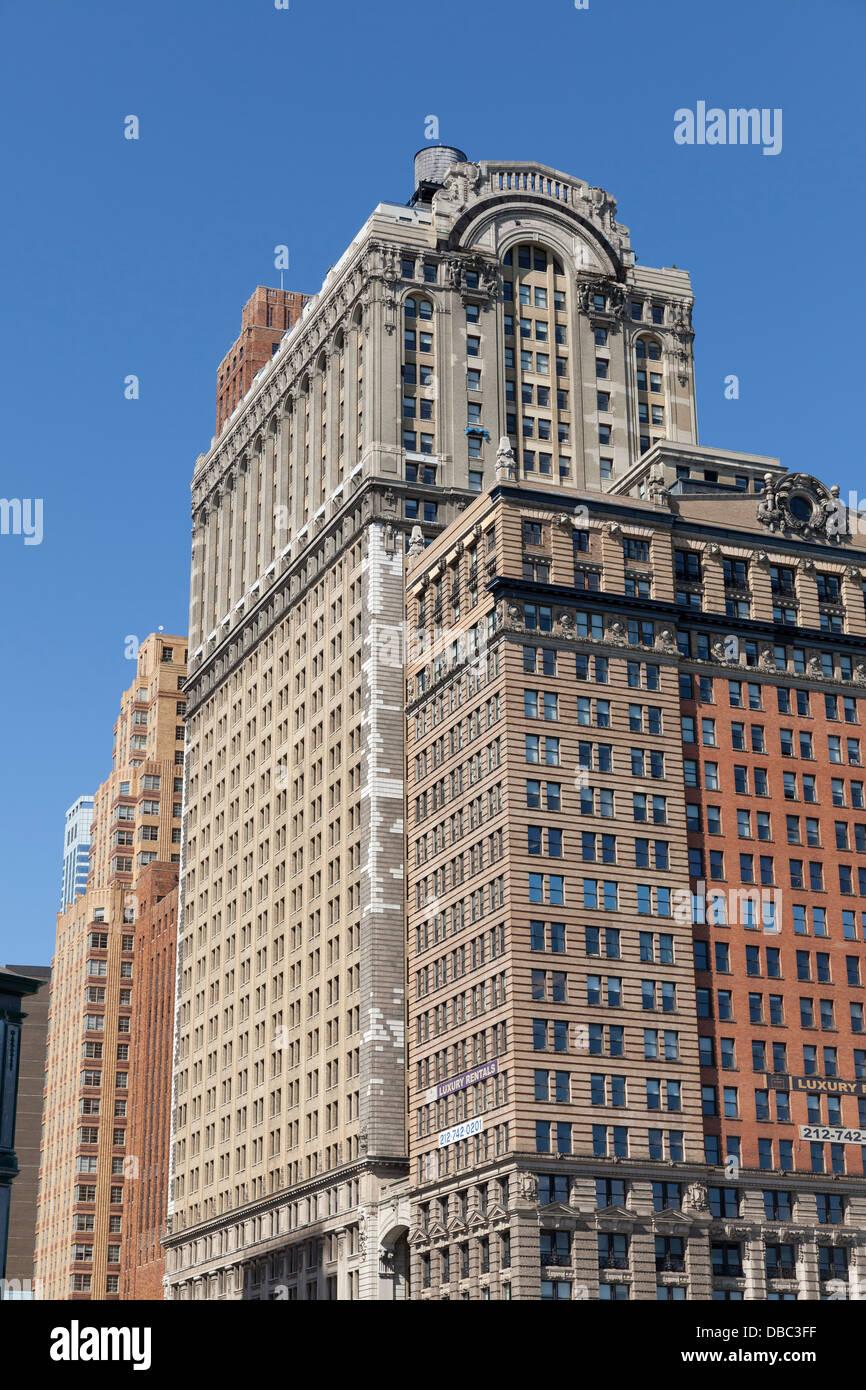 The Whitehall Building opposite battery Park in New York City - Stock Image