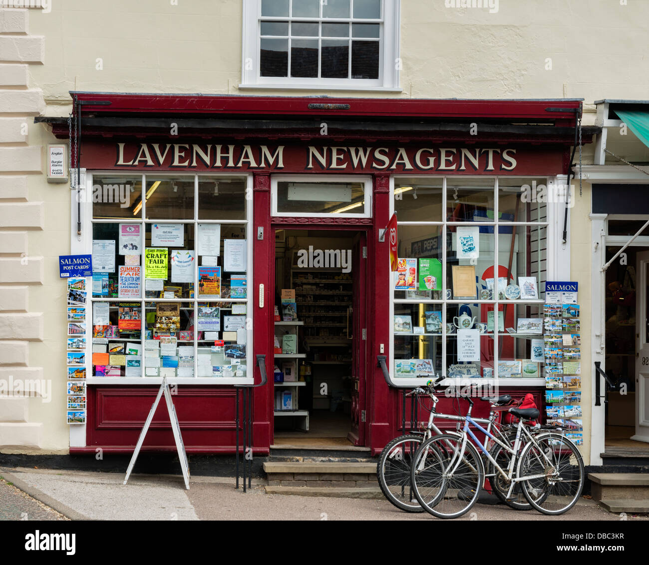 Lavenham Newsagent's Shop - Stock Image