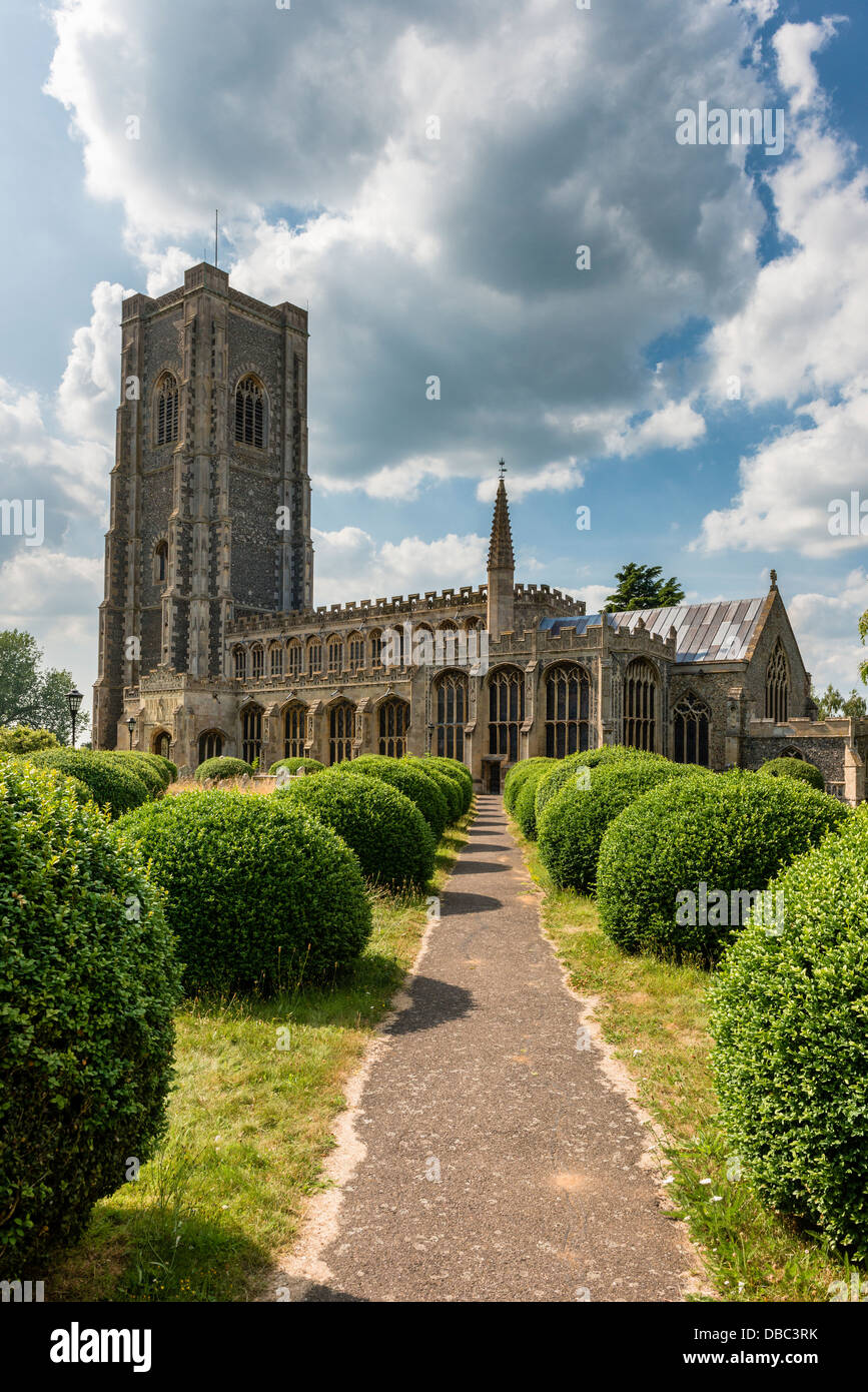 The Church of St Peter and St Paul Lavenham - Stock Image