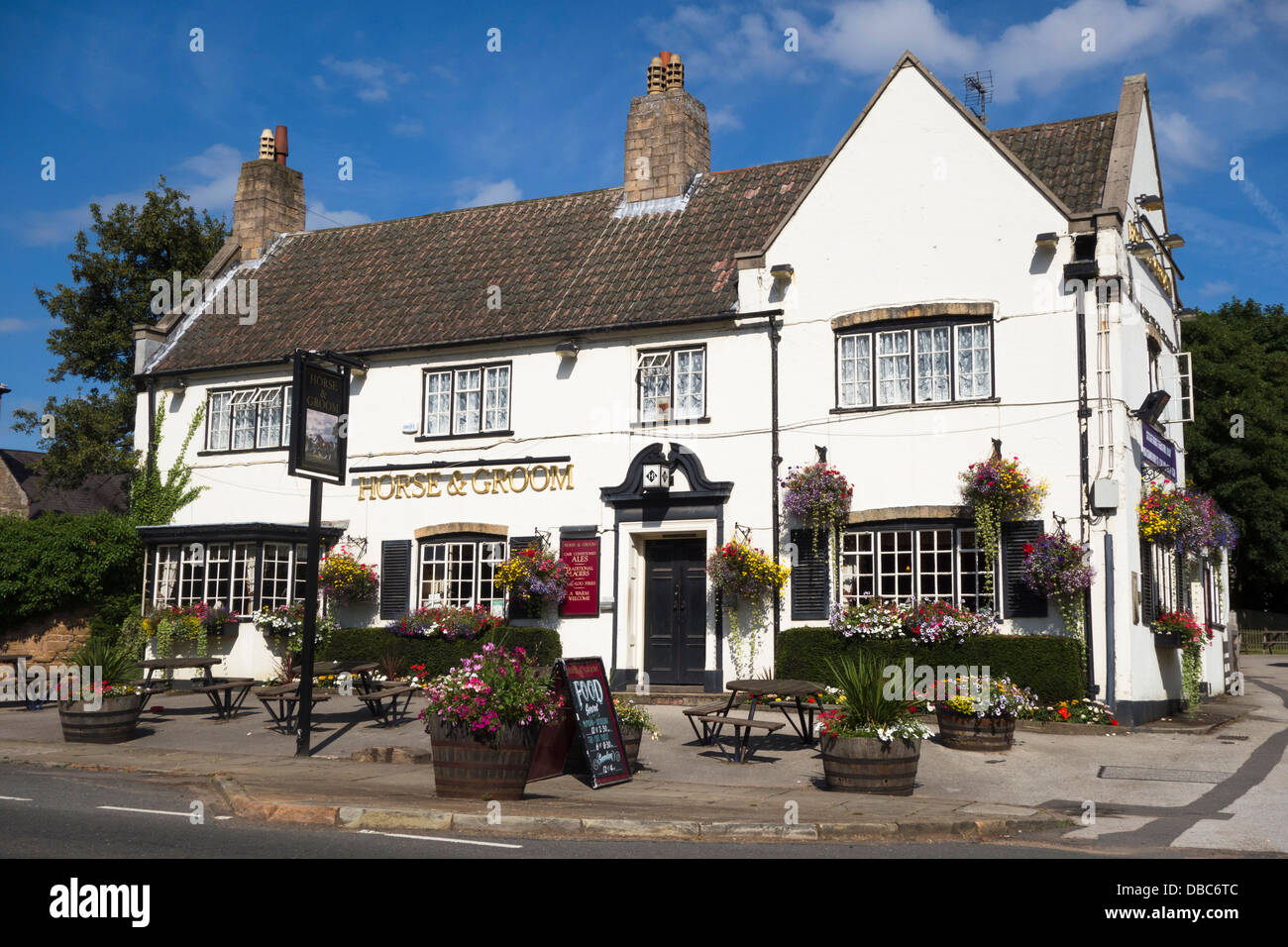 The Horse & Groom public house, Linby, Nottinghamshire, England, U.K. - Stock Image
