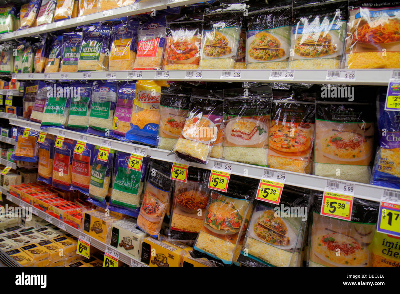 Fort Lauderdale Ft. Florida Winn Dixie grocery store supermarket food competing brands sale retail display shelves Stock Photo