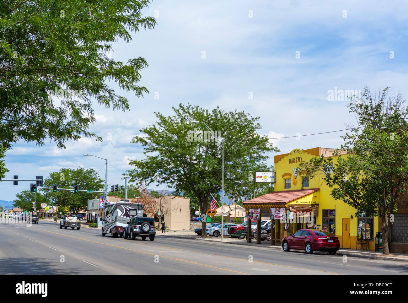 Main Street in Cortez, Colorado, USA - Stock Image