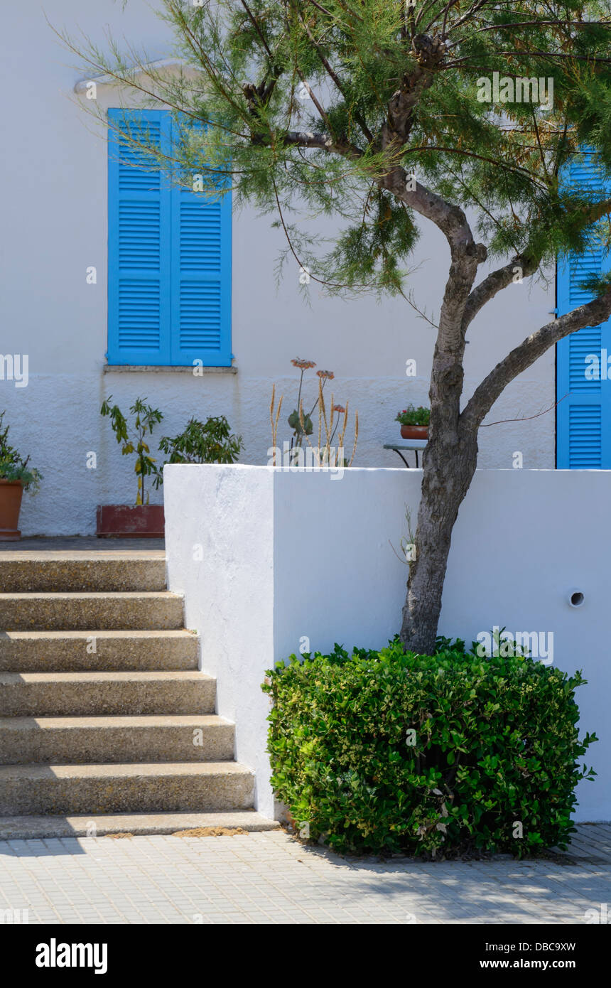 Detail of fishermen's house in old fishermans village of Son Baulo, northern Majorca, Stock Photo