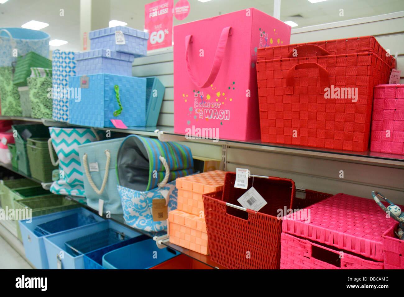 Miami Florida Aventura Marshalls Home Goods Discount Department Store  Retail Display Sale Baskets Storage