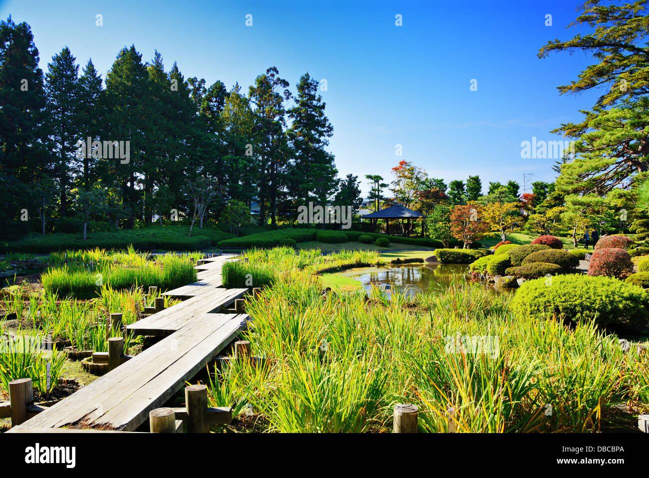 Gardens in Japan. - Stock Image