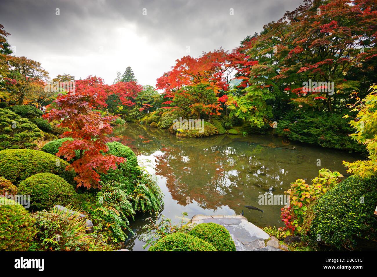 Autumn foliage in Nikko, Japan. - Stock Image