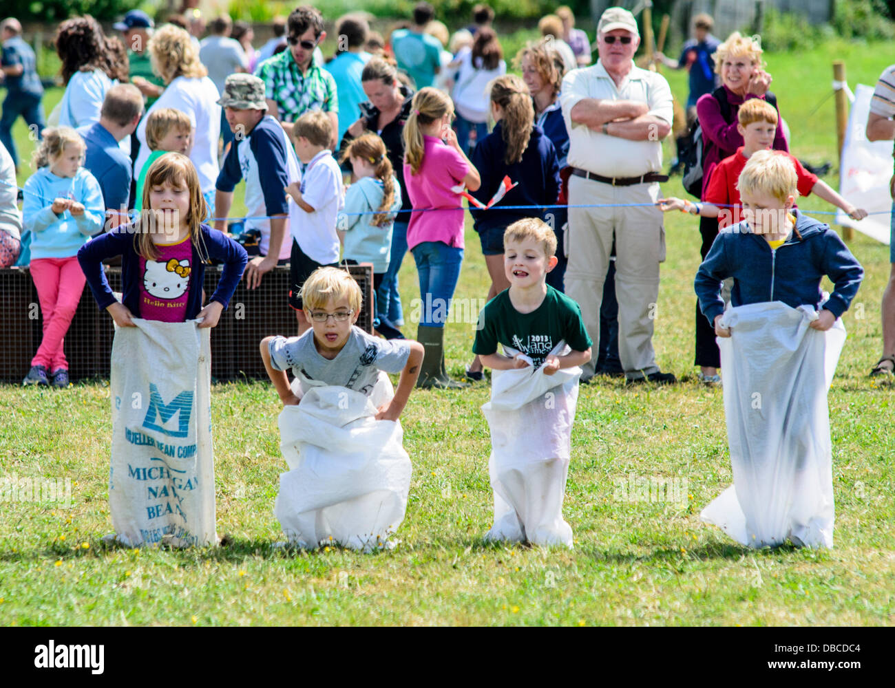 Children games at the Lowland Games - Stock Image