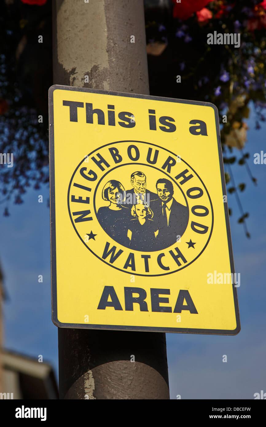 neighbourhood watch area sign in the uk - Stock Image