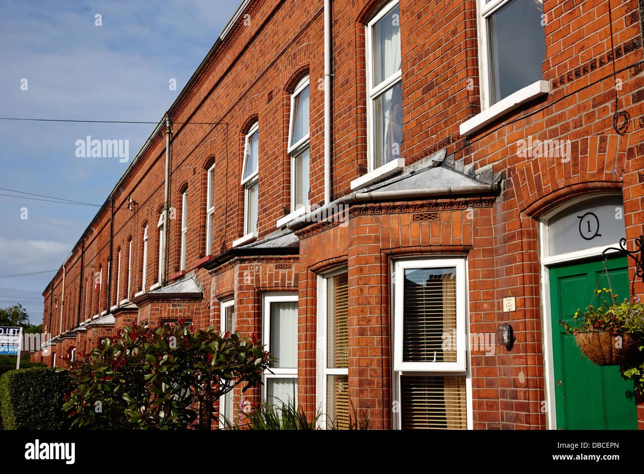 Victorian Red Brick Terraced Homes In Belfast Northern Ireland Uk   Stock  Image