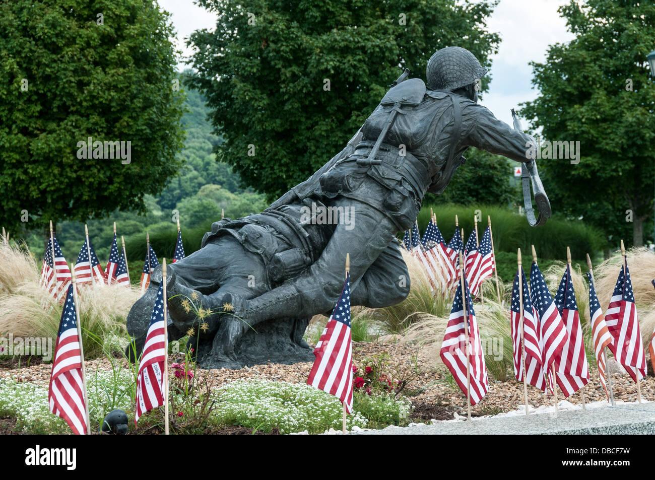 Valor Fidelity Sacrifice Sculpture National D Day Memorial Bedford Virginia