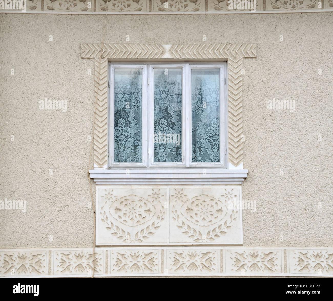 Window, Bukovina, Romania - Stock Image