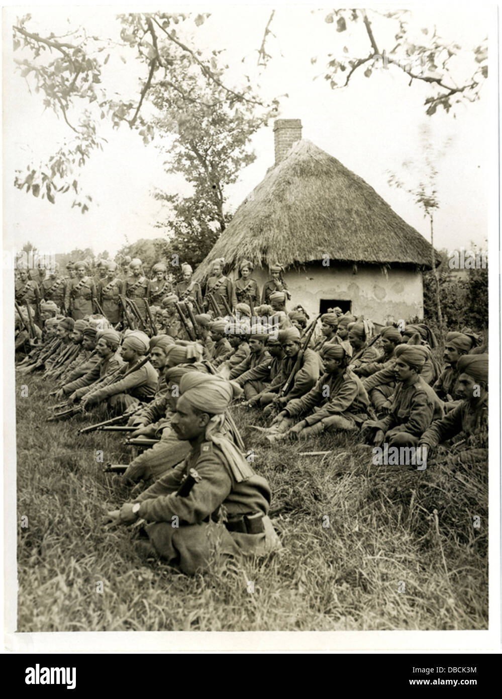 Some N.C.O.s and men of the 57th Rifles (Photo 24-278) - Stock Image