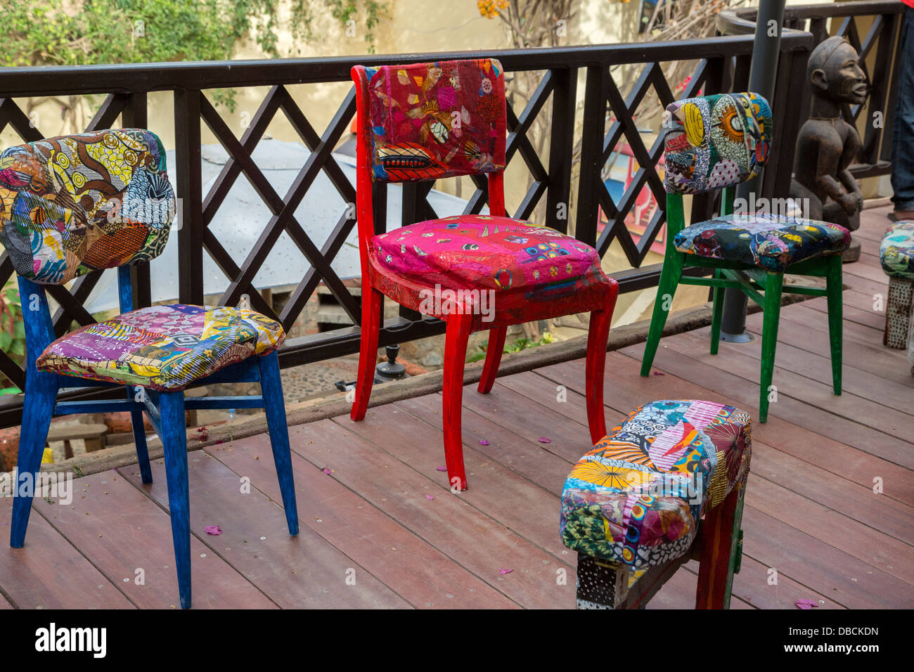 Colorful Artistic Furniture Made By Artist Amadou Kane Sy, Biannual Arts  Festival, Goree Island