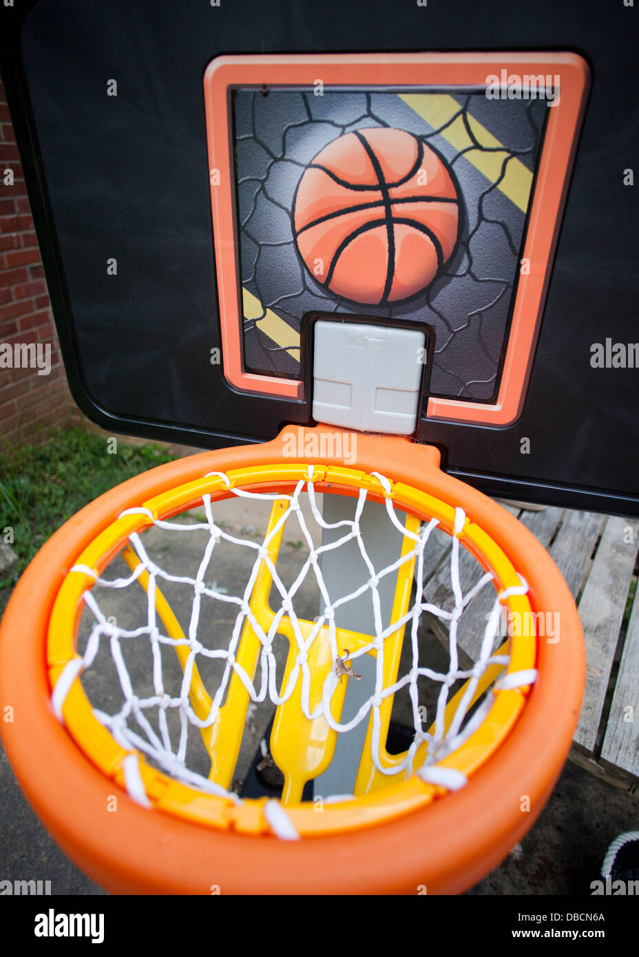 Child's basketball hoop - Stock Image