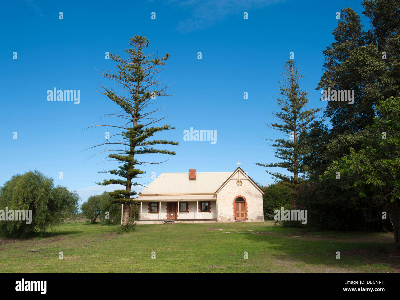 Homestead at the Central Greenough Historic Settlement, displaying heritage buildings by early settlers, Greenough, - Stock Image