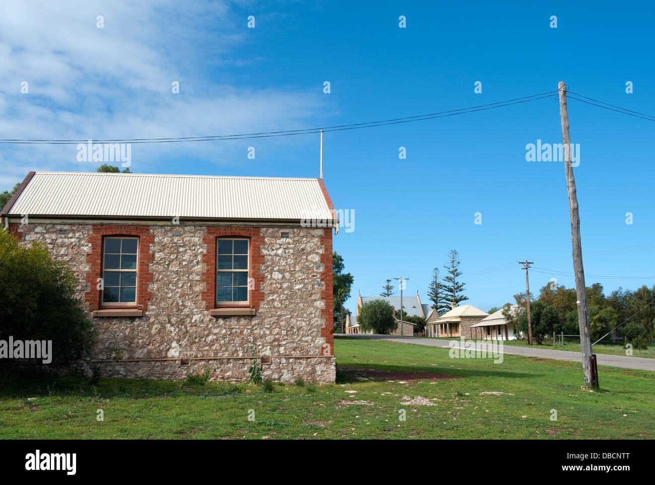 The Central Greenough Historic Settlement displays heritage buildings by early settlers, Coral Coast, Greenough, - Stock Image