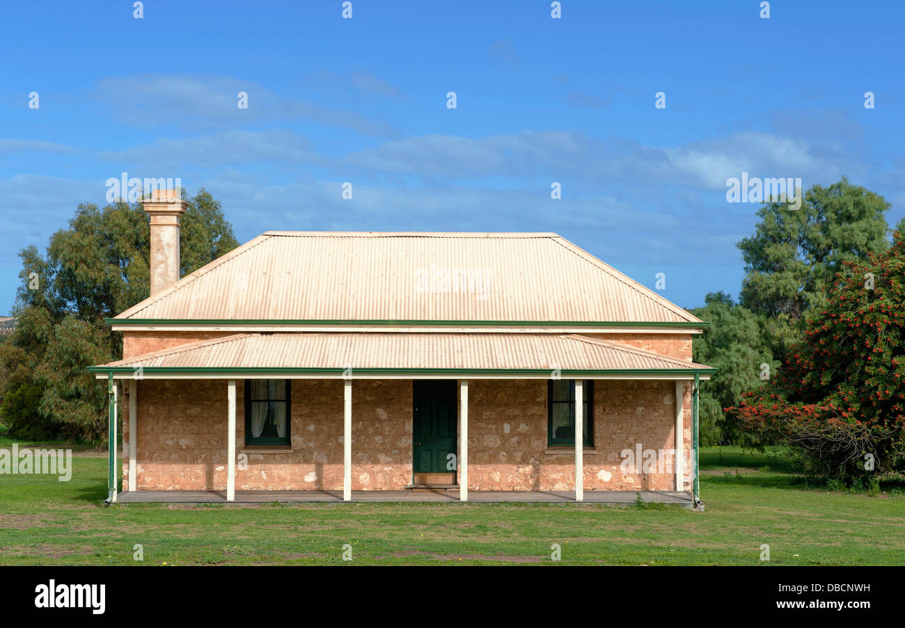 Homestead of the Central Greenough Historic Settlement displaying heritage buildings by early settlers, Greenough, - Stock Image
