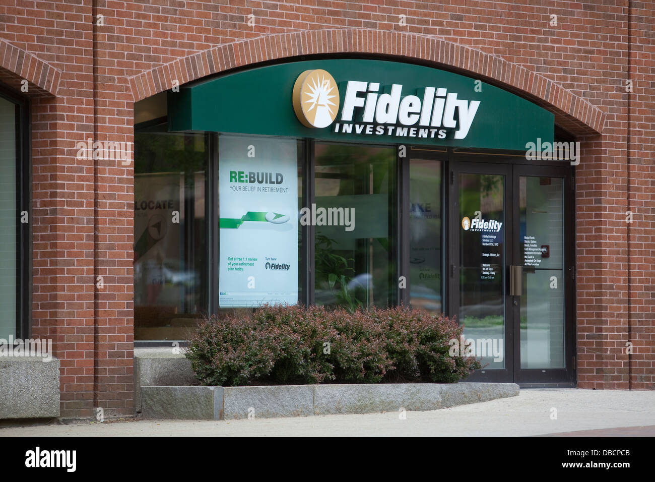 A Fidelity Investment branch is pictured in Portland, Maine - Stock Image