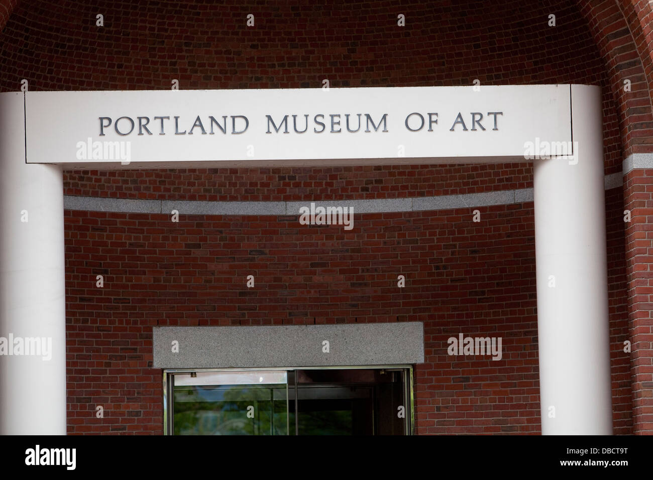 Portland Museum of Art is pictured in Portland, Maine Stock Photo