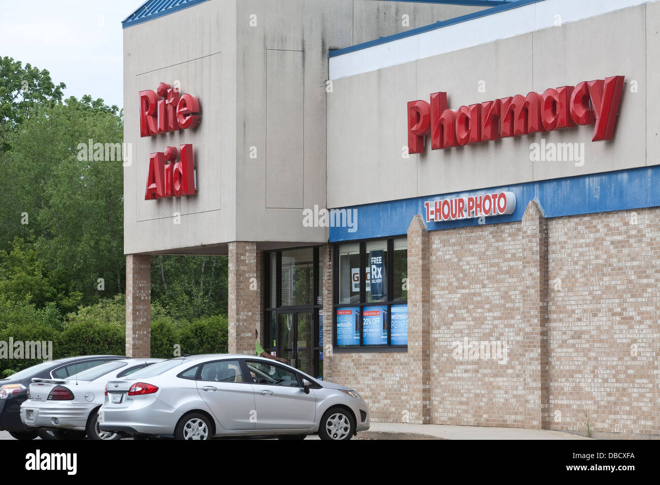A Rite Aid pharmacy is pictured in Maine - Stock Image