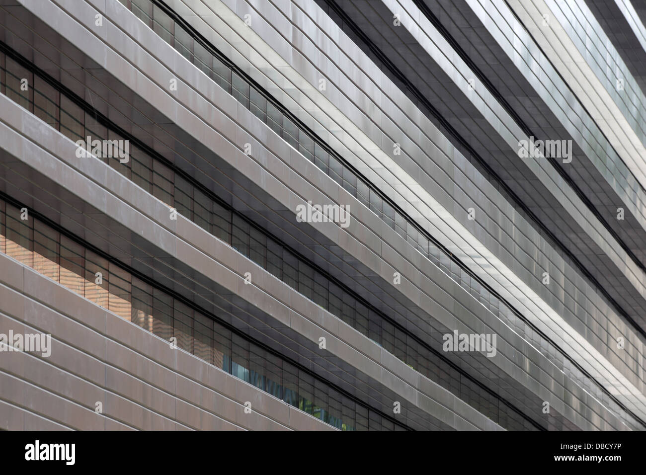Chasse Park Housing, Breda, Netherlands. Architect: OMA, 2001. Detail of apartment block facade, designed by various - Stock Image