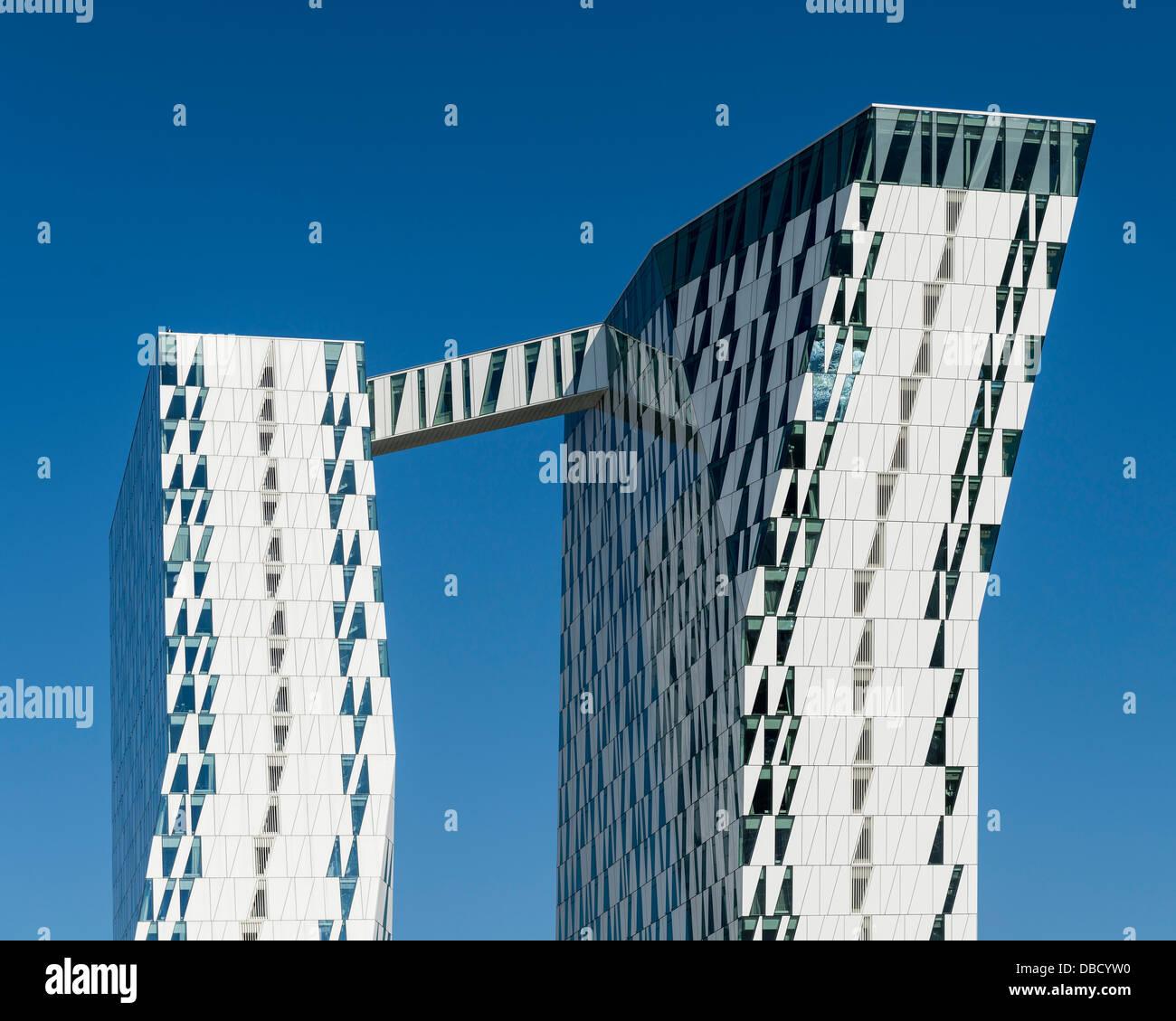 Bella Sky Hotel, Copenhagen, Denmark. Architect: 3XN, 2011. Stock Photo