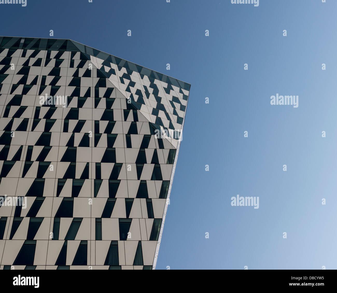 Bella Sky Hotel, Copenhagen, Denmark. Architect: 3XN, 2011. View of part of tower. Stock Photo