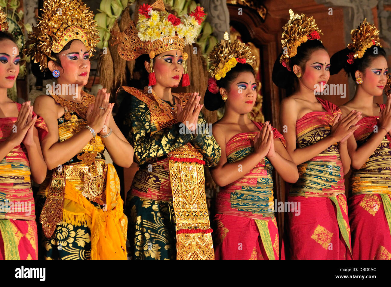 Legong Dance dancers, Ubud, Bali, Indonesia, Asia - Stock Image