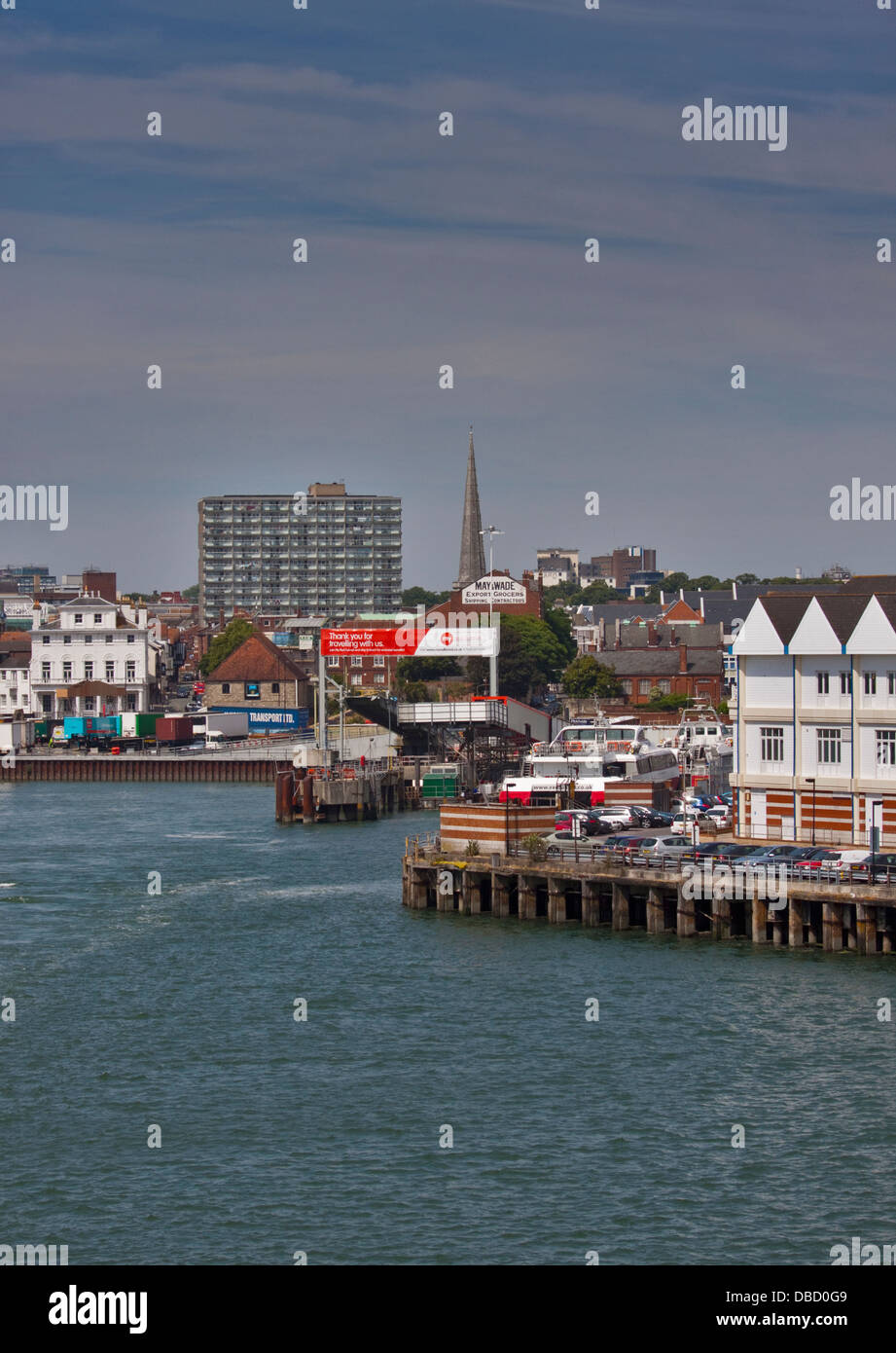Red Funnel Ferries Terminal and Quayside, Southampton, Hampshire, England - Stock Image