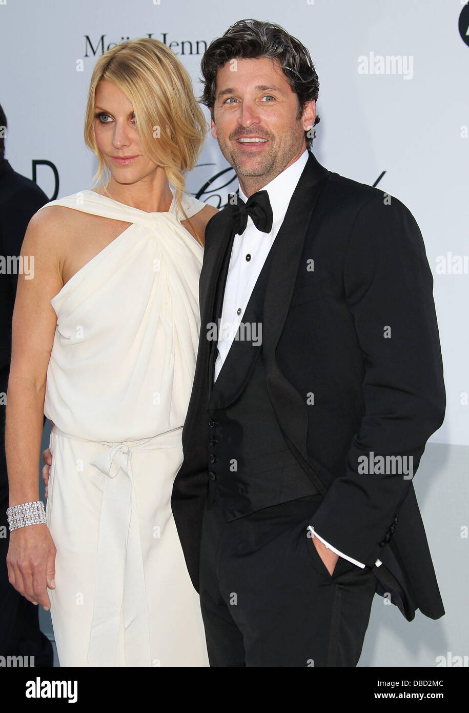 Actor Patrick Dempsey And His Wife Jillian Dempsey 2011 Cannes Stock