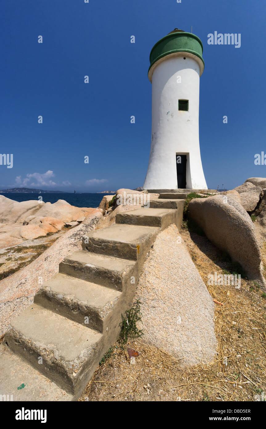 Palau Lighthouse Punta Faro, North Sardinia, Italy - Stock Image