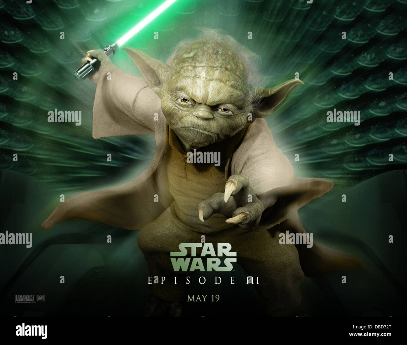 Star Wars Episode Iii Revenge Of The Sith Poster 2005 Yoda Stock Photo Alamy