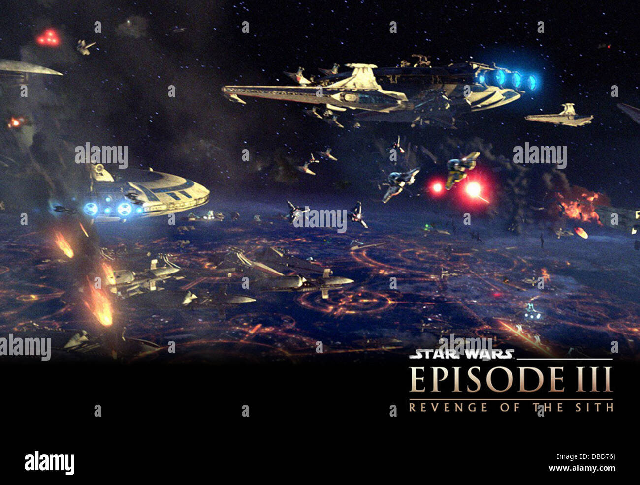Star Wars Episode Iii Revenge Of The Sith Poster 2005 George Stock Photo Alamy