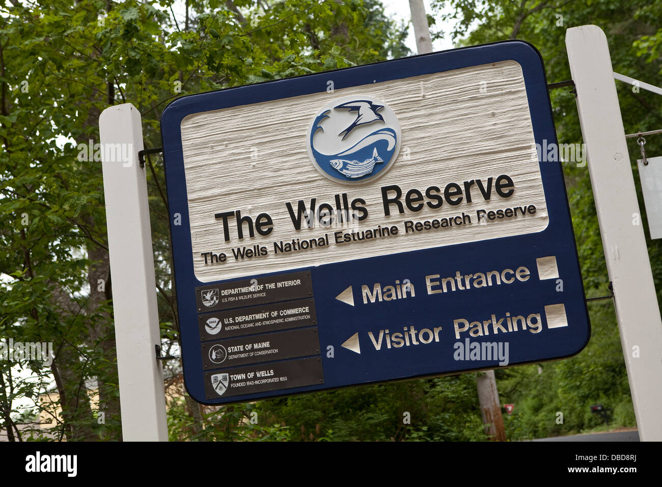 The Wells National Estuarine Research Reserve is pictured in Wells, Maine - Stock Image