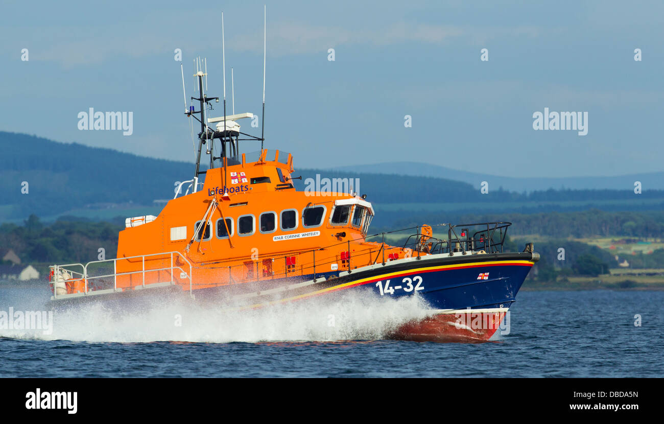 RNLI at Chanonry Point Scotland - Stock Image