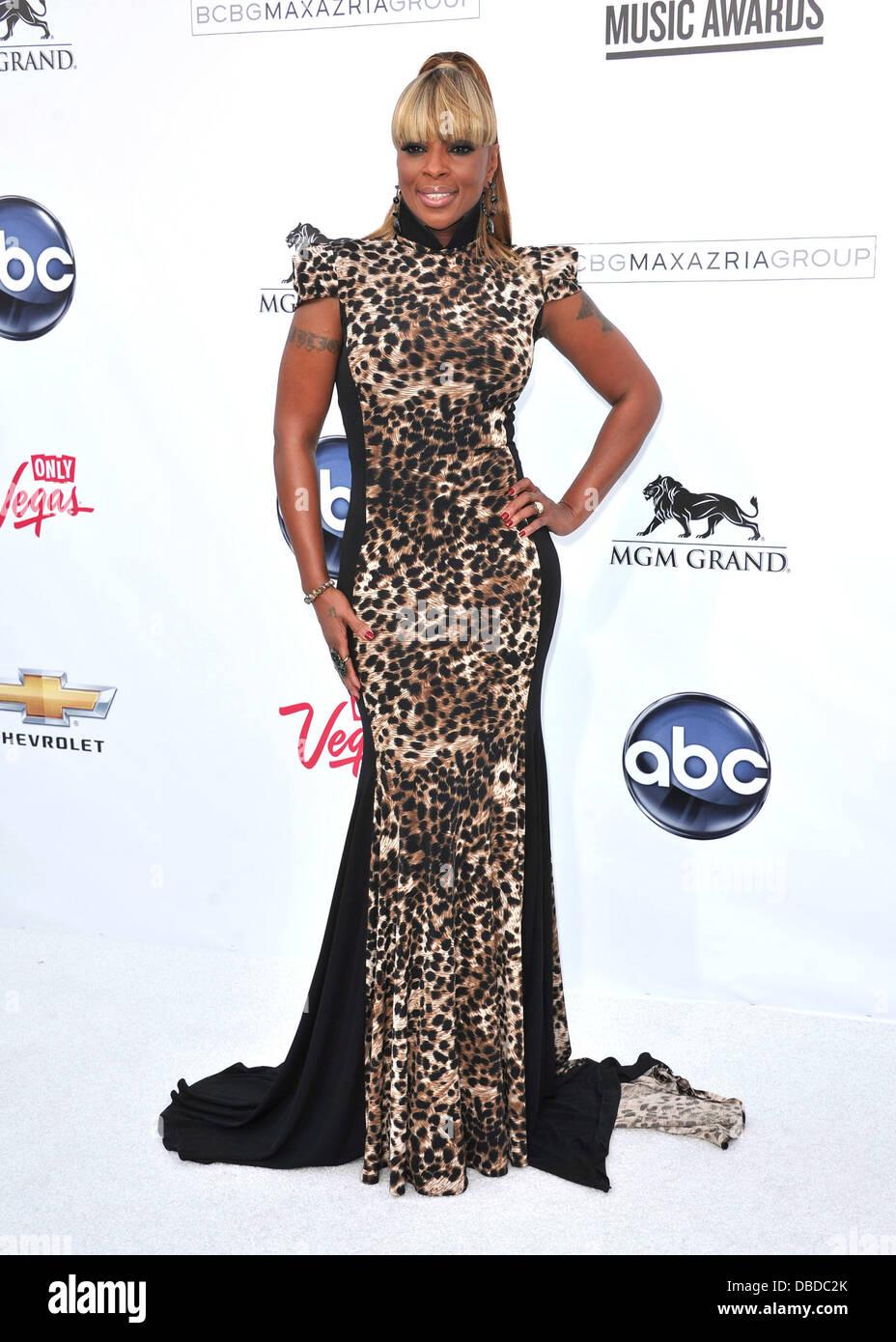 Mary J. Blige 2011 Billboard Music Awards at MGM Grand Garden Arena Las Vegas, Nevada - 22.05.11 - Stock Image