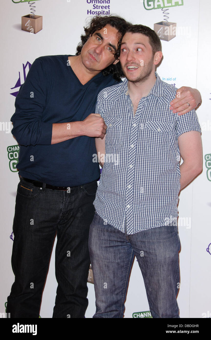 Micky Flannigan and Jon Richardson Channel 4's Comedy Gala - Arrivals. London, England - 24.05.11 - Stock Image