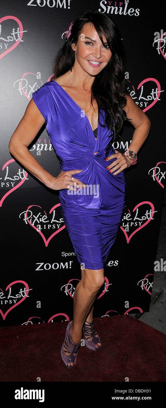 Liz Cundy arriving for the Lipsy party at Chinawhite London, England ...