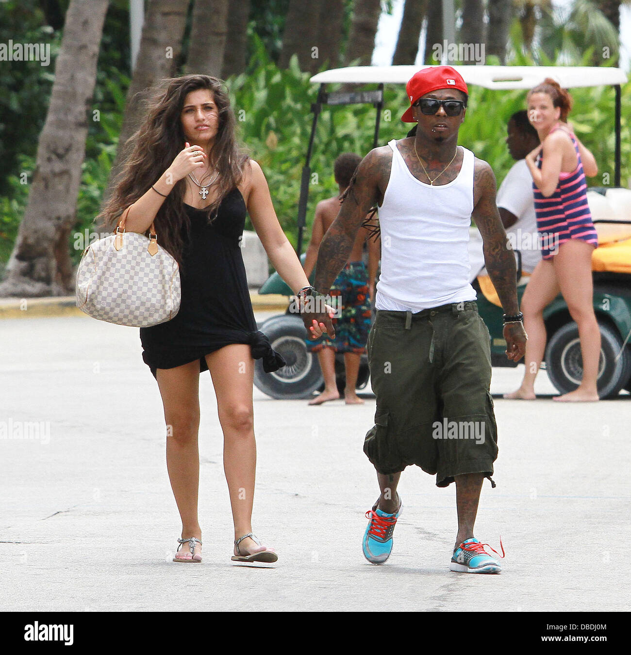 Lil Wayne out and about in Miami with his new girlfriend ...