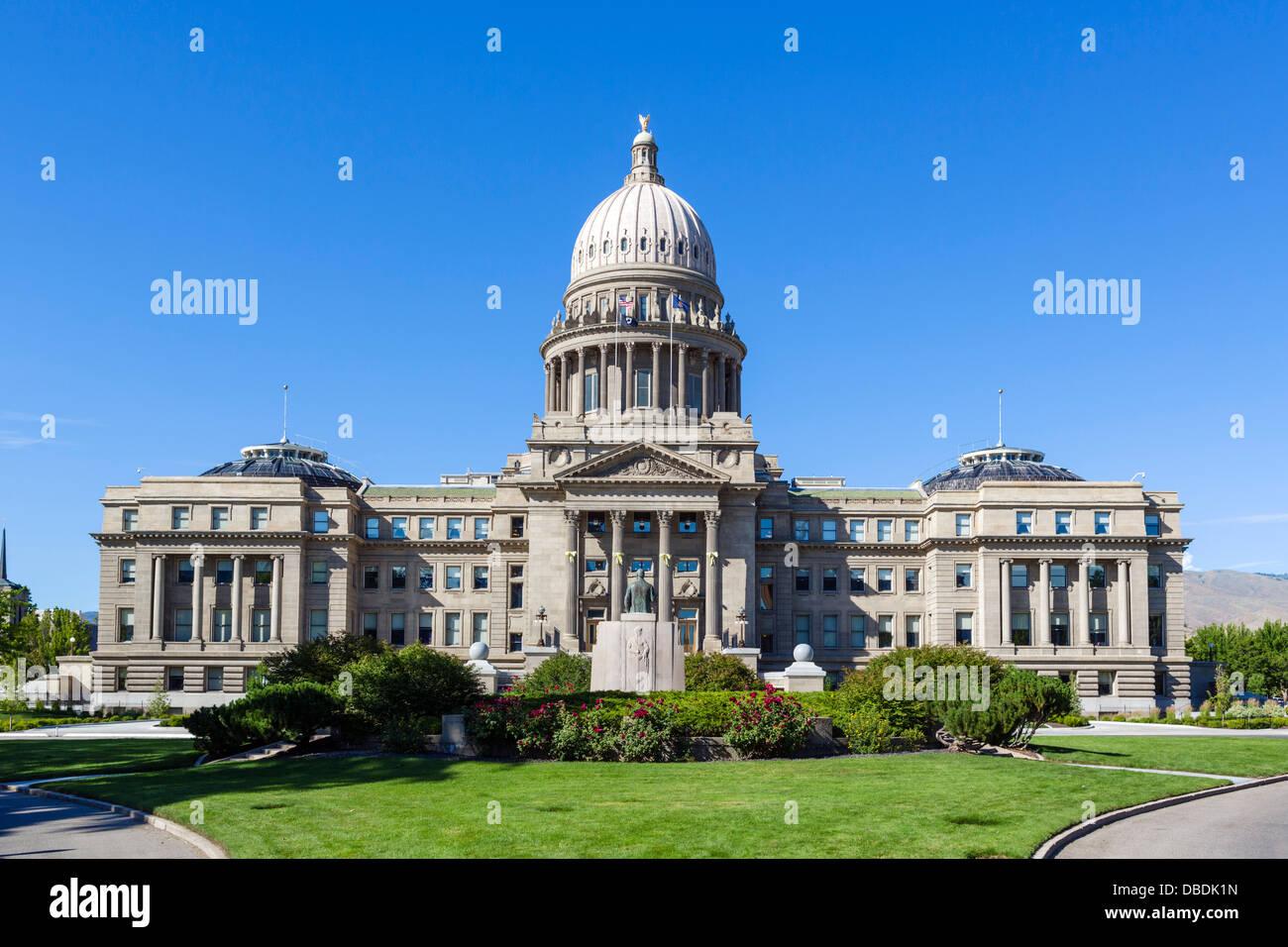 Idaho State Capitol building, Boise, Idaho, USA - Stock Image