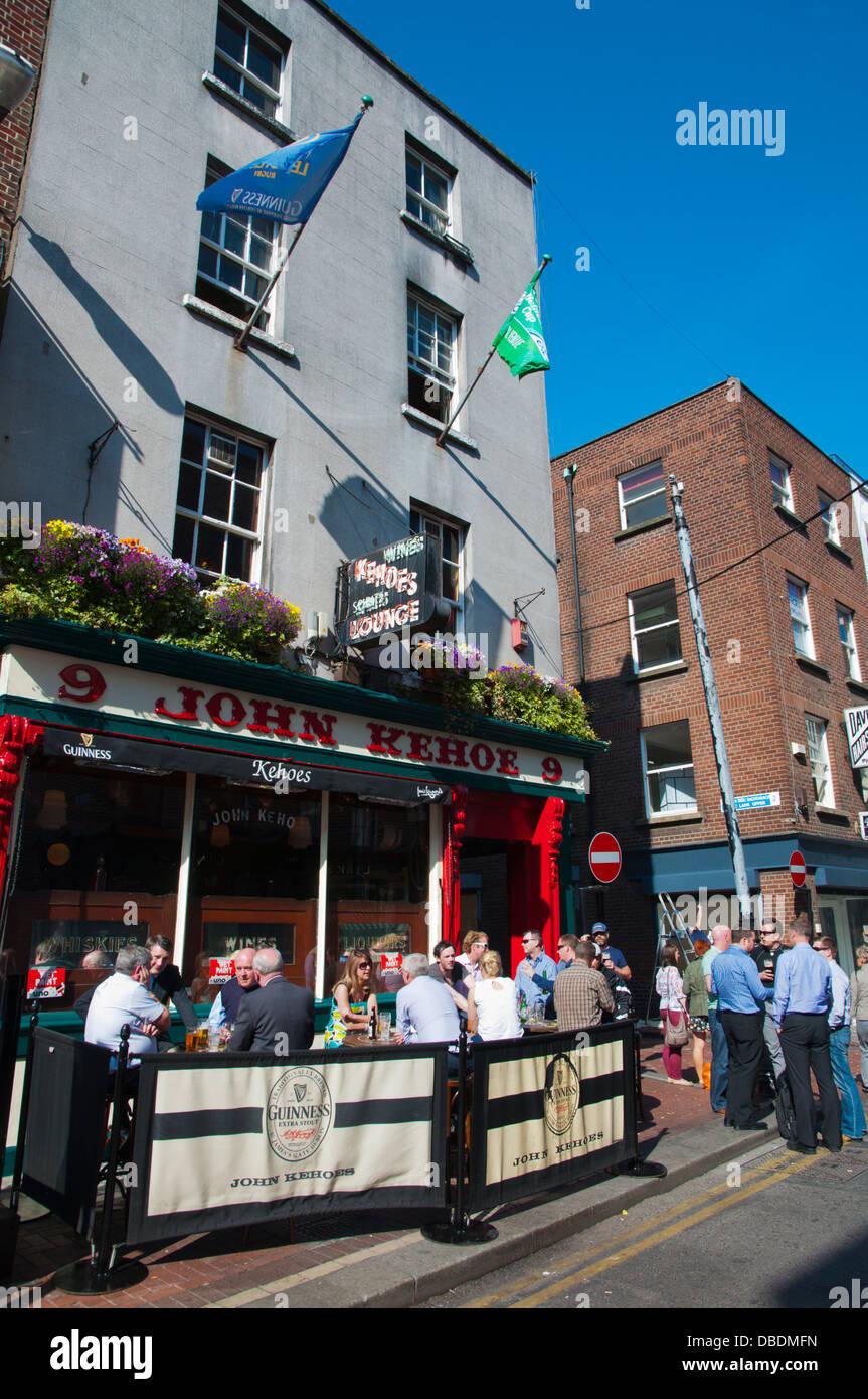 Anne Street central Dublin Ireland Europe - Stock Image