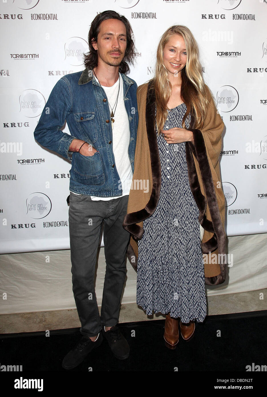 Incubus vocalist Brandon Boyd (L) and actress Baelyn Neff