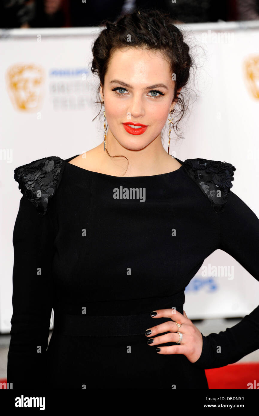 JESSICA BROWN FINDLAY Philips British Academy Television Awards in 2011 held at the Grosvenor House - Arrivals. - Stock Image
