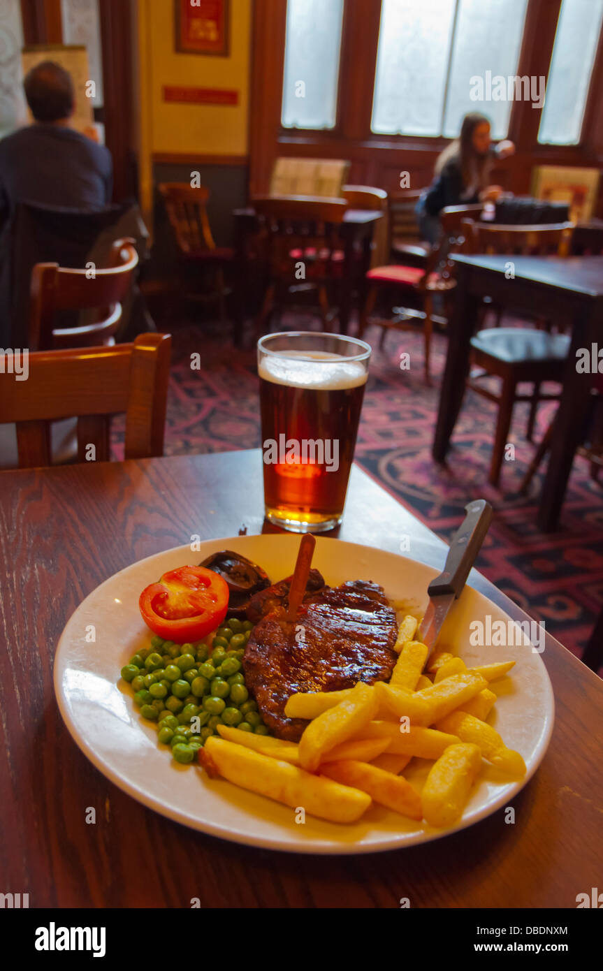 Tuesday Steak Club meal The Standing Order pub Wetherspoon chain central Edinburgh Scotland Britain UK Europe - Stock Image