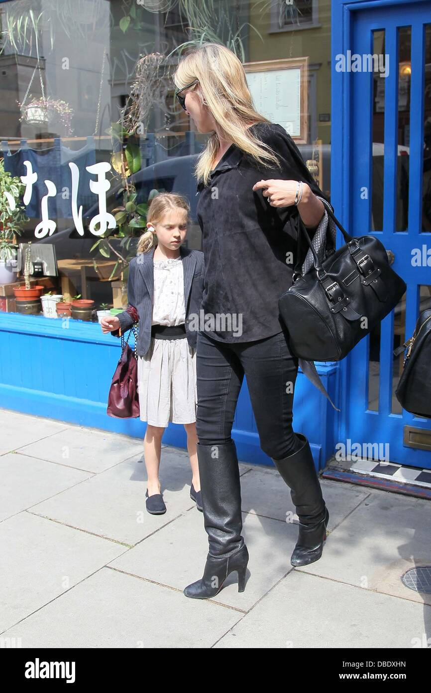 Kate Moss and daughter Lila Grace in Notting Hill London, England - 31.05.11 - Stock Image