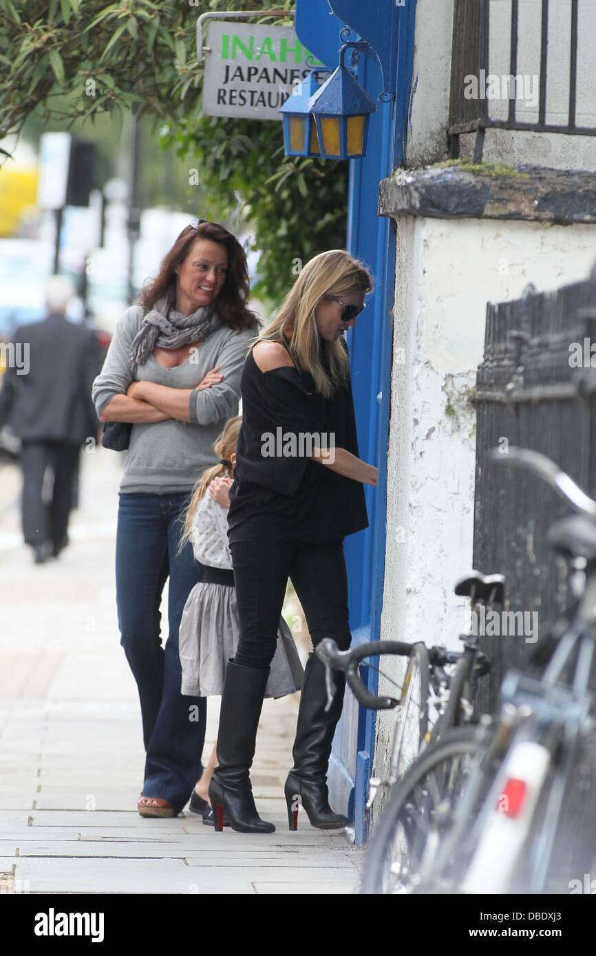 Kate Moss with daughter Lila Grace in Notting Hill London, England - 31.05.11 - Stock Image